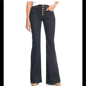 Michael Kors NWT 6 Button Front Selma Flare Jeans
